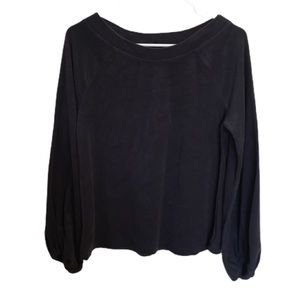Lou&Grey Terry Cloth slouchy Scoop Neck Top